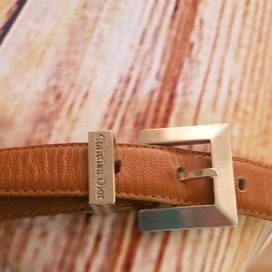 Christian Dior Brown Leather Belt